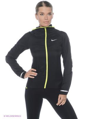 Ветровка IMPOSSIBLY LIGHT JACKET Nike. Цвет: черный, салатовый