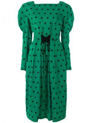 Платье с принтом звезд Push Button. Цвет: зелёный