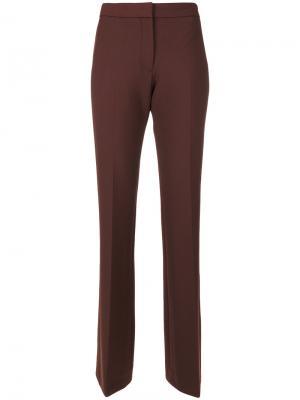 Расклешенные брюки Victoria Beckham. Цвет: коричневый