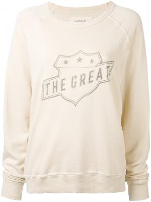The great sweatshirt. Цвет: телесный