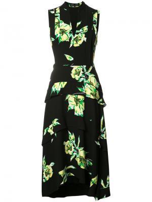 Платье с цветочным принтом Proenza Schouler. Цвет: чёрный