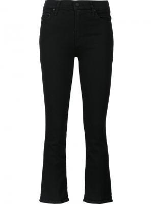 Укороченные джинсы Insider Mother. Цвет: чёрный