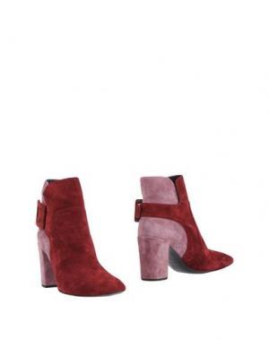 Полусапоги и высокие ботинки ROGER VIVIER. Цвет: пурпурный