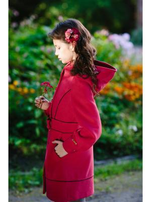 Пальто DUWALI. Цвет: малиновый