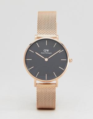 Daniel Wellington Золотистые часы с сетчатым ремешком DW00100161. Цвет: золотой