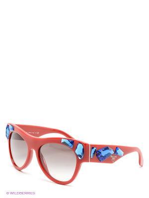 Очки солнцезащитные PRADA. Цвет: синий, красный