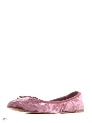 Балетки Mango. Цвет: розовый