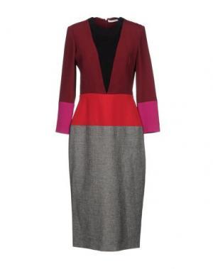 Платье длиной 3/4 BARBARA CASASOLA. Цвет: красно-коричневый