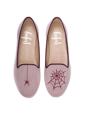 Слиперы - Паук/Паутина (п.р.) Lucifer's shoes. Цвет: светло-коралловый