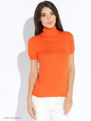 Водолазка Oodji. Цвет: оранжевый