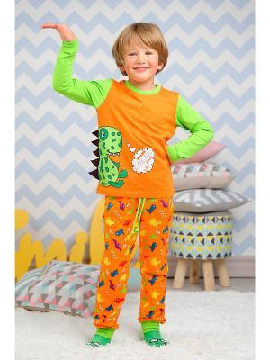 Пижама KitFox. Цвет: оранжевый