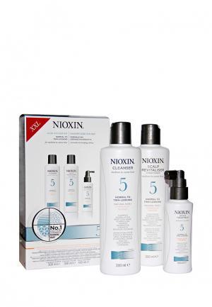 Набор Система 5 Nioxin. Цвет: белый