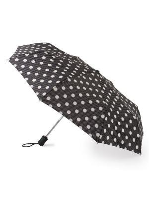 Зонт женский автомат Fulton. Цвет: черный