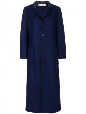 Пальто Manteau Marni. Цвет: синий