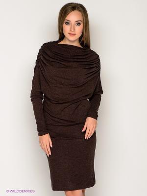 Платье МадаМ Т. Цвет: коричневый