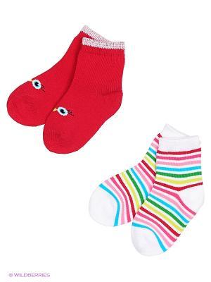 Носки детские трикотажные для девочек, 2 пары в комплекте PlayToday. Цвет: розовый