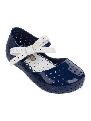Туфли Melissa. Цвет: темно-синий, белый