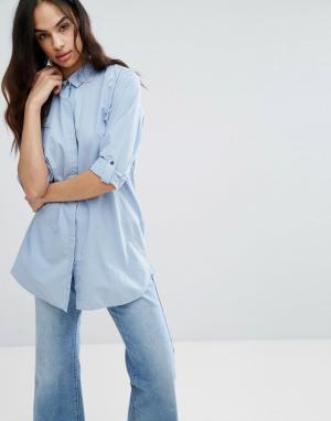 MiH Jeans Oversize-рубашка Minimal. Цвет: синий