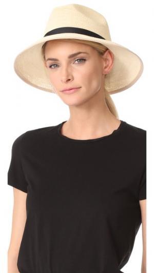 Плетеная шляпа Clasico Artesano. Цвет: натуральный/кремовый/черный