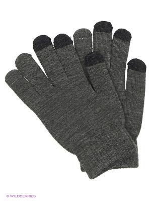 Перчатки для сенсорных экранов TERRITORY. Цвет: серый