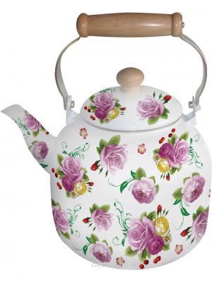 Чайник эмалированный 7л. BOHMANN. Цвет: фиолетовый