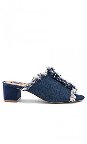 Босоножки на каблуке resolve JAGGAR. Цвет: синий