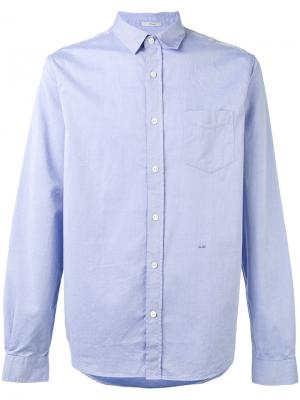 Саржевая рубашка Closed. Цвет: синий