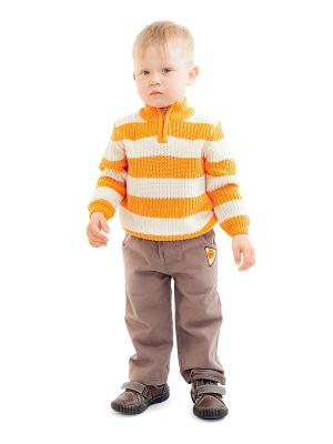 Свитер PlayToday. Цвет: светло-бежевый, оранжевый