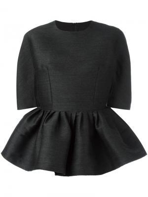 Блузка с баской Ter Et Bantine. Цвет: серый