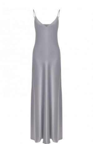 Приталенное однотонное платье-комбинация Jenny Packham. Цвет: светло-серый