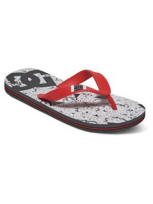 Шлепанцы SPRAY GRAFFIK B SNDL DC Shoes. Цвет: красный, серый, черный