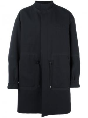 Пальто с карманами спереди Ahirain. Цвет: чёрный