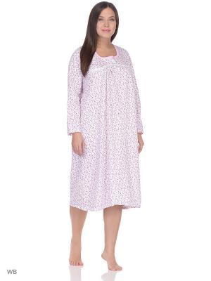 Ночная сорочка lawiggi. Цвет: розовый