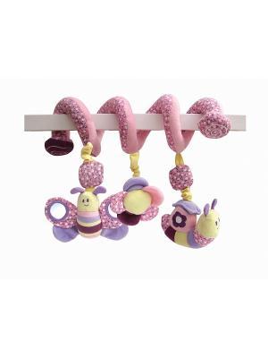 Игрушка-спираль бабочка для детской кроватки Little Bird Told Me. Цвет: розовый