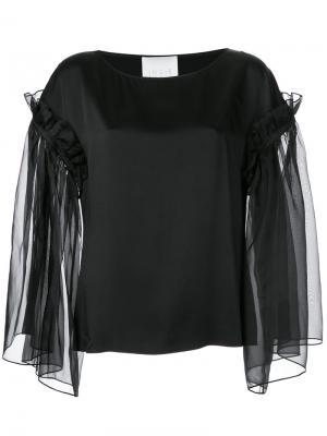 Sheer ruffle sleeve dress Ingie Paris. Цвет: чёрный