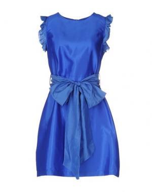 Короткое платье LA CAMICIA BIANCA. Цвет: синий