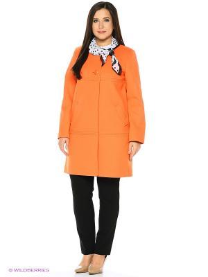 Пальто FORTUNA. Цвет: оранжевый