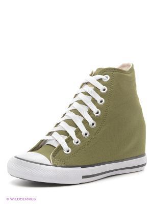 Сникеры 4U. Цвет: хаки, серо-зеленый