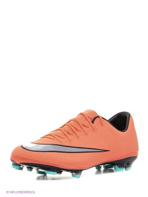 Бутсы JR MERCURIAL VAPOR X FG Nike. Цвет: оранжевый