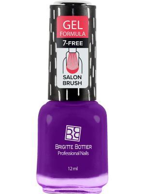 Бриджит Ботье гелевый лак GF тон 71 фиолетово-баклажановый, 12 мл Brigitte Bottier. Цвет: фиолетовый