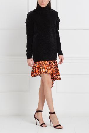 Блузка с люрексом Viva Vox. Цвет: черный