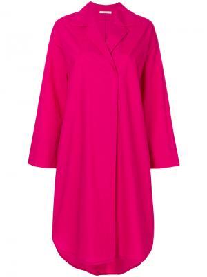 Платье-рубашка Odeeh. Цвет: розовый и фиолетовый