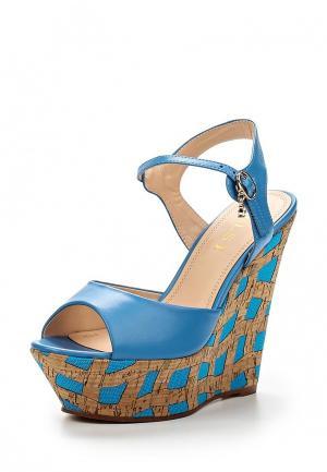 Босоножки Elsi. Цвет: голубой
