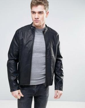 Born Rich Байкерская куртка из искусственной кожи. Цвет: черный