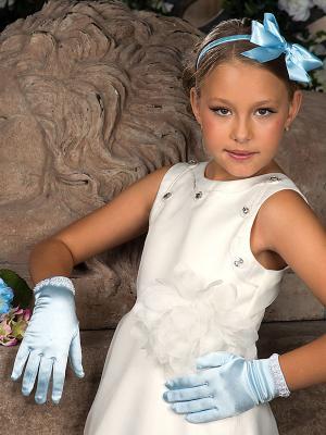Перчатки Perlitta. Цвет: голубой
