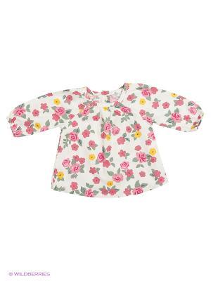 Блузка United Colors of Benetton. Цвет: бежевый, бледно-розовый