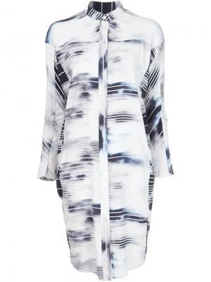 Платье-рубашка Zero + Maria Cornejo. Цвет: белый