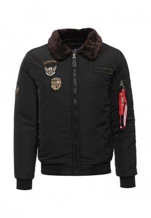 Куртка утепленная Jimmy Sanders. Цвет: черный