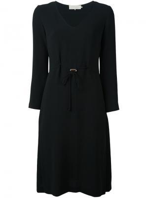 Платье миди с поясом LAutre Chose L'Autre. Цвет: чёрный