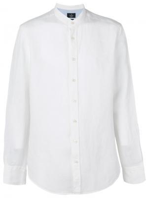 Однотонная рубашка Hackett. Цвет: белый